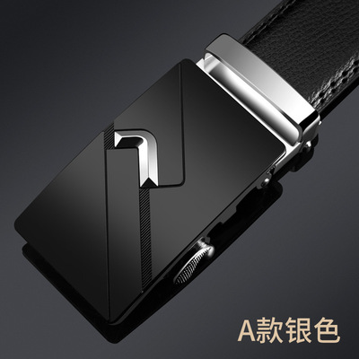 TACE&SHARK Luxury Automatic Buckle male belts 2019 Designer Belt Men Leather Belt