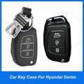 Genuine Leather car key case smart  key cover smart car holders for Hyundai IX35 Mistra