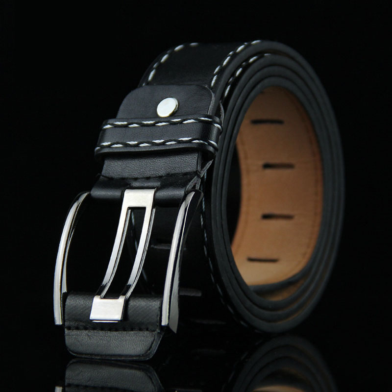 KAWEIDA Fashion Man 2018 Trending Men's Genuine Leather   Belt   Wide Pin Buckle   Belts   for Jeans Gift for Man Accessories Ceinture