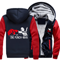 USA size ONE PUNCH-MAN Saitama Coat Zipper Hoodie Winter Fleece Unisex Thicken Jacket Clothing