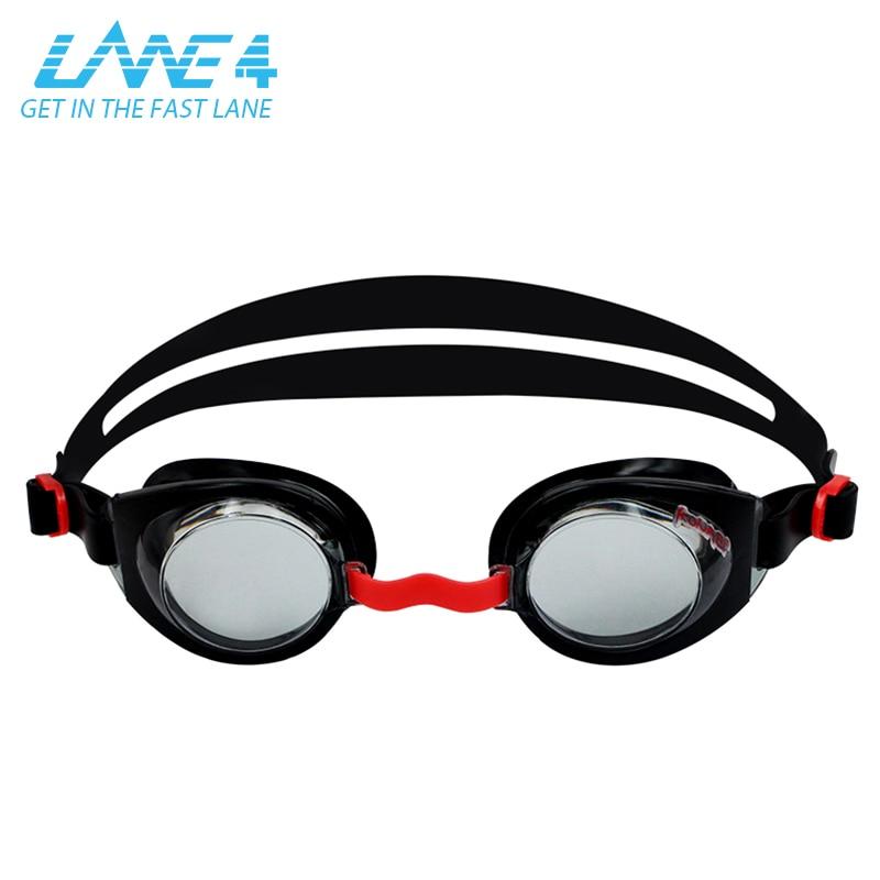 LANE4 Junior Optical Swim Goggle K712 Customized Corrective Lenses Triathlon UV Protecti ...