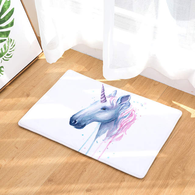 Online Shop Creative Color Horse Zebra Unicorn Design Floor Mats For