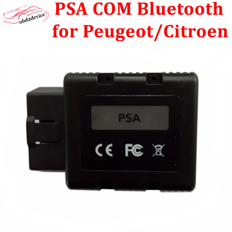 2017 OBD2 Scanner For Citroen For Peugeot PSA COM PSA-COM Bluetooth Diagnostic Tool PSA COM ECU Key programming as lexia 3 new version v2 13 ktag k tag firmware v6 070 ecu programming tool with unlimited token scanner for car diagnosis