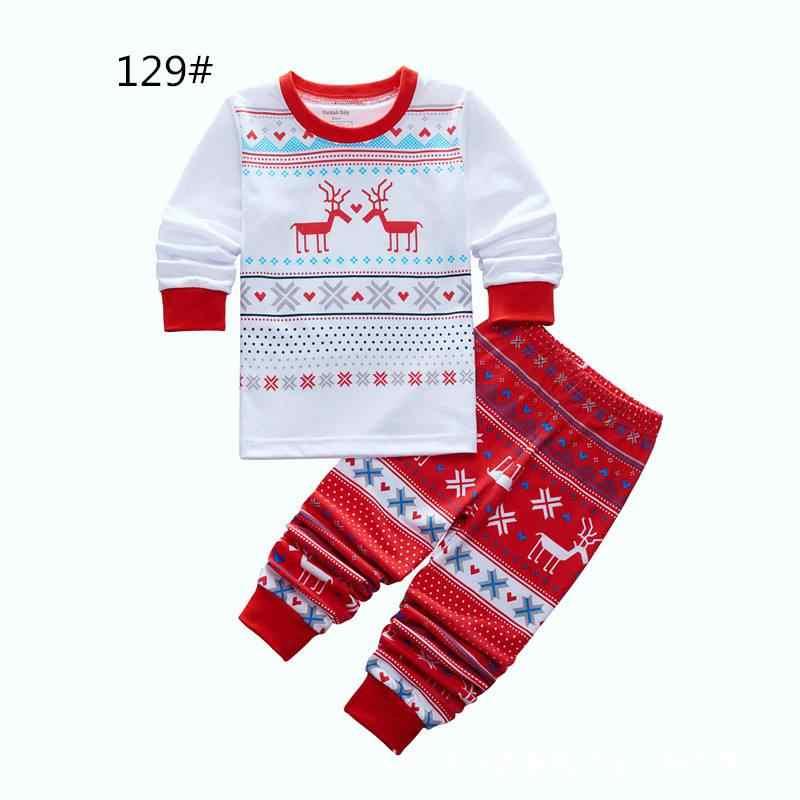 Boys Christmas Pajamas.Baby Girls Boys Christmas Pajamas Set Kids Striped Xmas Deer Snow Printed Long Sleepwear Set Family Christmas Nightwear Outfits