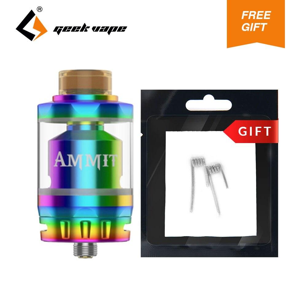 D'origine GeekVape Ammit RTA Double Bobine Atomiseur 3 ml Capacité Avec 2 pcs 0.3ohm Chenille Bobine SS316 e-cig Réservoir