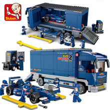 Sluban B0357 Racing Car Transporter Figures 641pcs Educational Building Blocks Bricks DIY Kids Toys Compatible with major brands