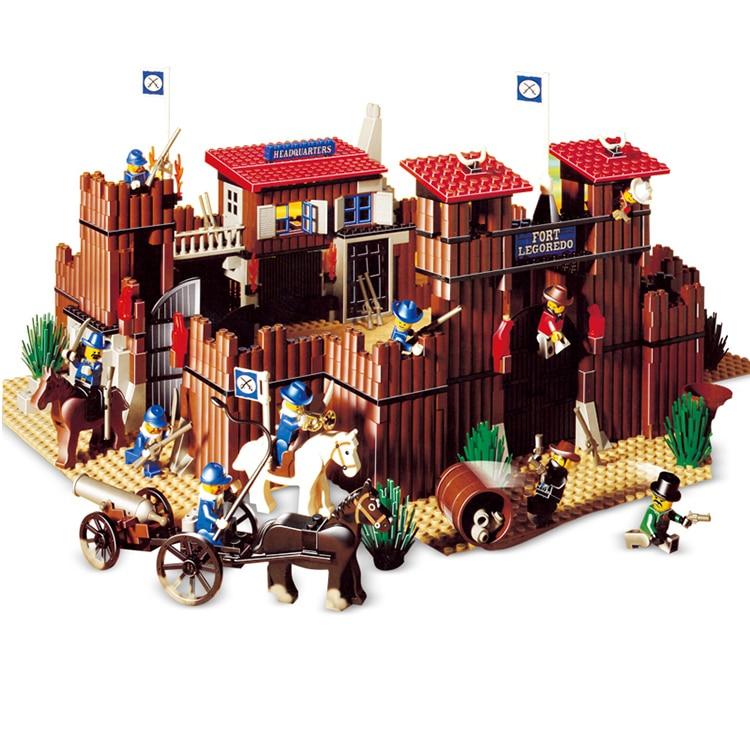 West cowboy Series Indian Village Building Blocks 724Pcs Bricks Educational Toys Compatible With Legoings 6762