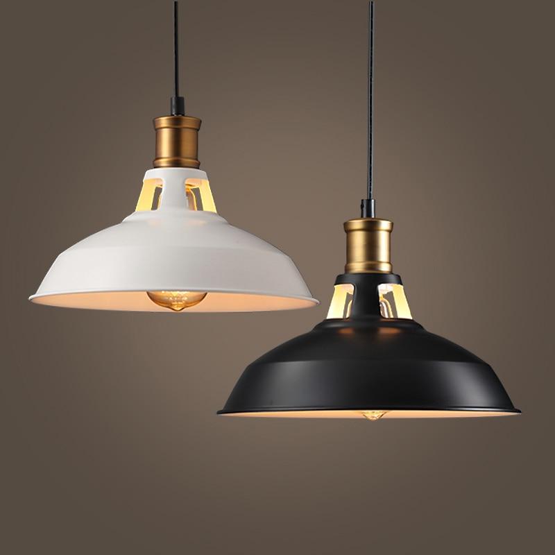Industrial Retro Pendant Lights Vintage Hanging Lights Black Iron Led Pendant Lamp Restaurant Kitchen Dining Room Cafe Bar E27 Pendant Lights     - title=