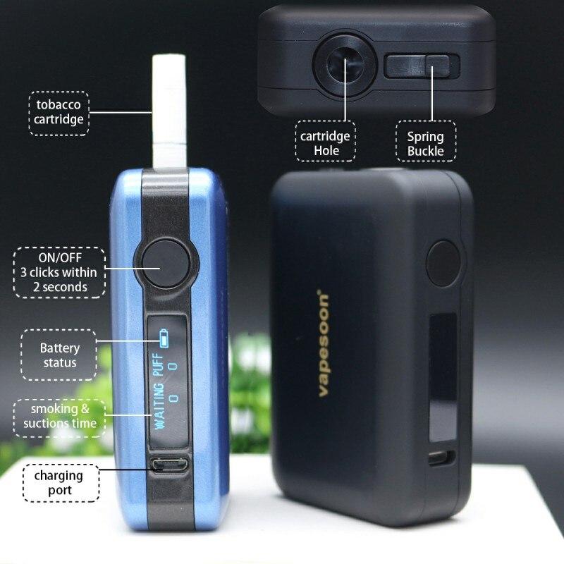 Boîte LTN e-cigarette version améliorée avec batterie 1800 mah OLED affichage de style broche kit de vape de chauffage adapté cartouche de tabac mod
