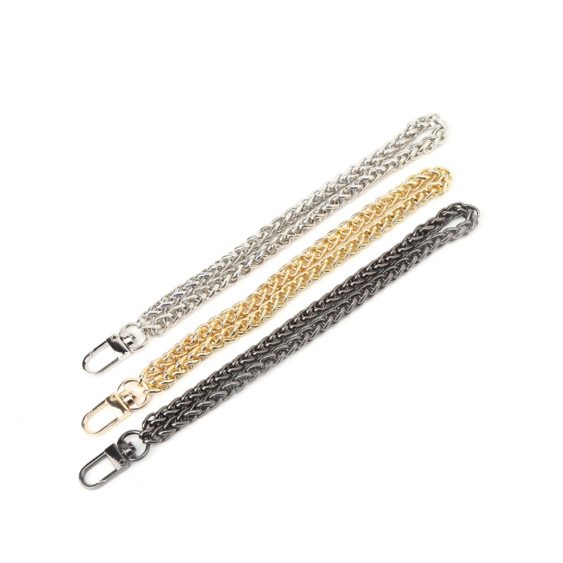 THINKTHENDO Women Bag Handle DIY Replacement Wrist Strap Chain Accessories Clutch Wristlet Purse Coin Bag Key Metal New Long