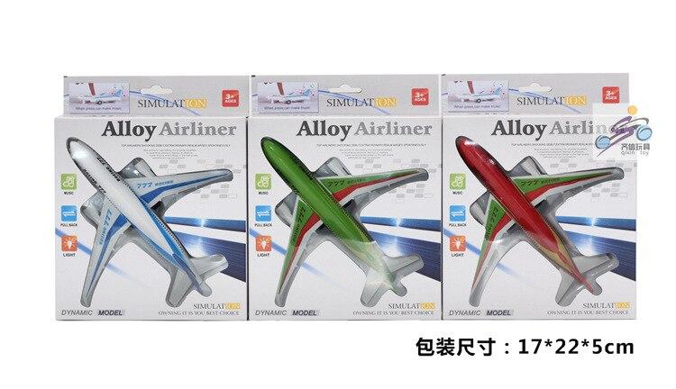 Barnleksaker, Alloymodellplan, Boeing 777 airbus, Dra tillbaka plan, - Bilar och fordon - Foto 2