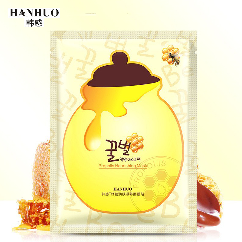 Bee Honey Facial Mask Propolis Nourishing Moisturizing Brightening Anti Acne Face Mask Black Mask For Face