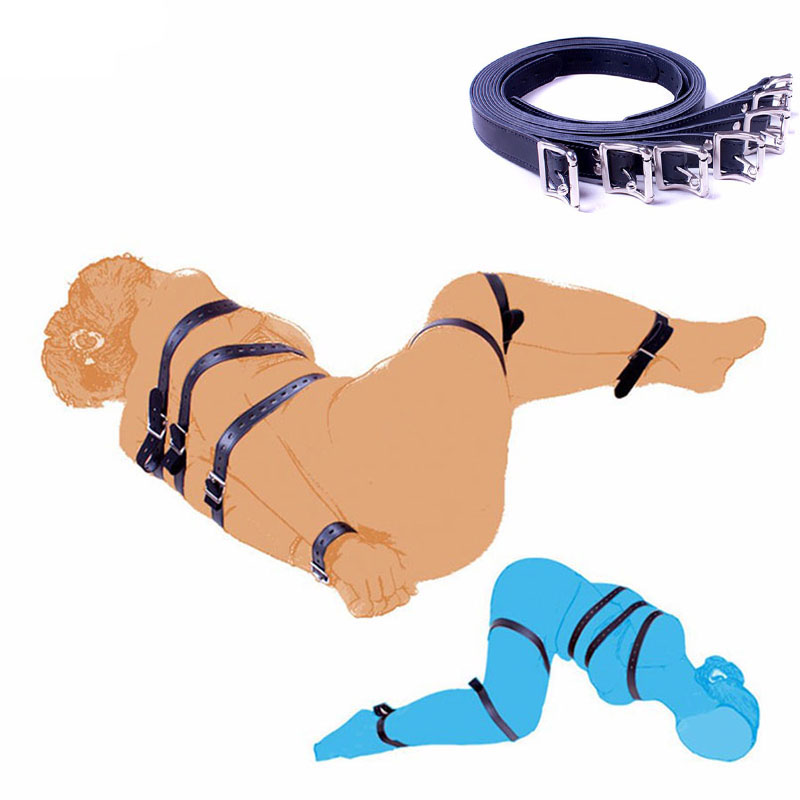 PU-Leather-Full-Body-Strap-Set-7pcs-Set-Different-Length-Belt-Bundled-BDSM-Bondage-Rope-Restraints