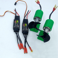 1Set Boat Model Underwater Thruster 24V 900KV 20000RPM Motor Sprayer Pump with 40A ESC+CW CCW Propeller for RC Jet Boats