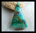 Wholesale Natural Stone Triangle Chrysocolla Necklace Pendant,64*37*6mm 19.1g pendant beads jewelry accessories