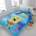 3D Bedding Set Minecraft Creeper Kids Bed Set Twin Full Queen Size 2/3pcs Duvet Cover Pillow Sham Free to fly Blue
