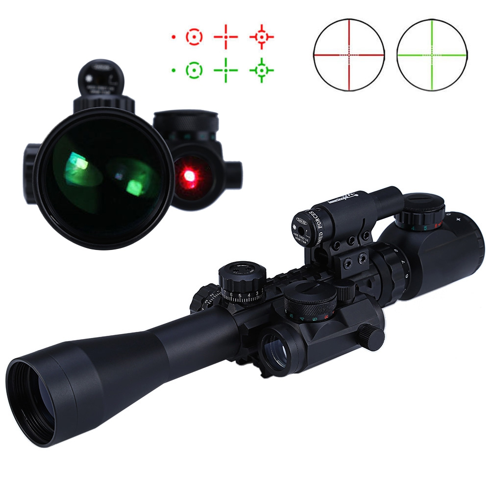 High Quality 3 - 9X40 EG Hunting Tactical Riflescope Red / Green Laser Hunting Optics Sniper Scope Sight Rifle Scope For Hunting 100mw650nm cross red laser head high power red positioning marking instrument high quality