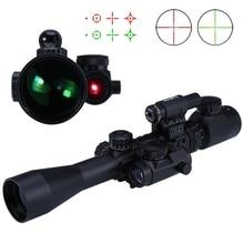 Wysoka Jakość 3-9X40 EG Luneta Polowanie Tactical Czerwony/Green Laser Sight Scope Polowanie Optyka Sniper Rifle Scope Na Polowanie