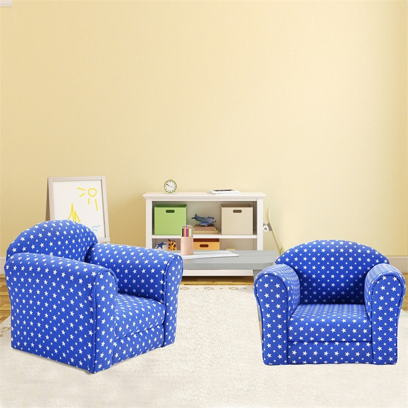 High Quality Heart-shaped Printed Armrest Children Couch 2 Colors Comfortable Material Reading Seat Kid Chairs HW52370