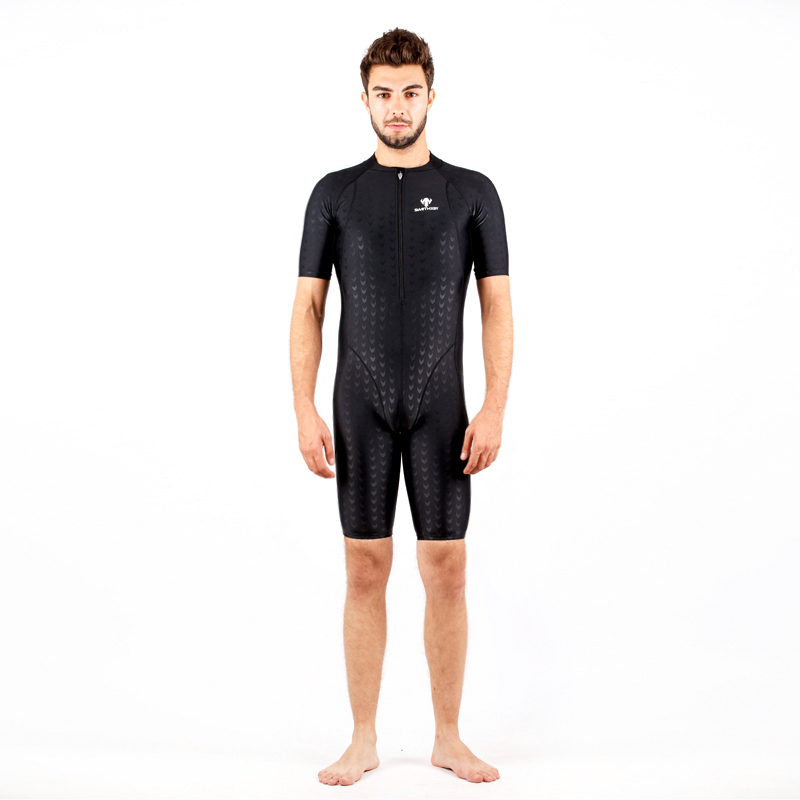 ФОТО Shark Skin Arena Competition Swimsuit Men Child Boy Competitive Bathing Suit Training Swimming One-piece Swimwear Surfing Suits