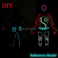 Rave Costume Props 2017 Led Rope Holiday Lights Shadow Rider Clothes Character Play Supplies Light Up