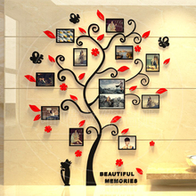 Acrylic 3D Family Photo Frame Tree Wall Stickers Removable DIY Art Poster Decals For Living Room Bedroom Home Decoration