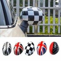 2 pcs Capas de Espelho Retrovisor Porta Adesivos Adesivos de Carro-estilo Para Mini Cooper S Clubman Paceman Countryman R55 R56 R57 R58 R59 R60 R61