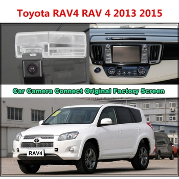 For Toyota RAV4 RAV 4 2013 2015 Car Camera Connected Original Screen Monitor and Rearview Backup Camera Original car screen image