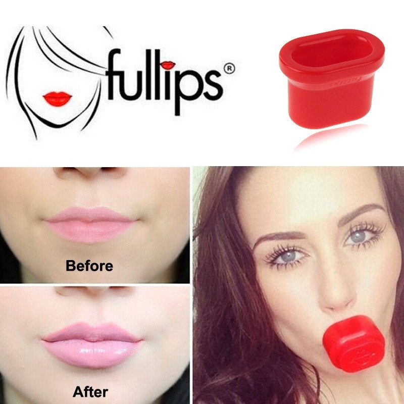 Hard Plastic Lip Pump Plumper Enhancer Round Oval Device Sexy Full Lips Red Pout Fuller Suction Women Beauty tool