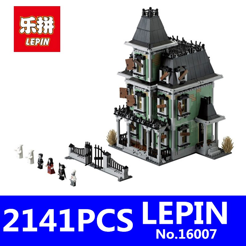 LEPIN 16007 2141Pcs Creative Series Monster Fighter Haunted House Model Building Blocks Bricks Toy for Children Compatible 10228 куплю москвич 2141 в костроме