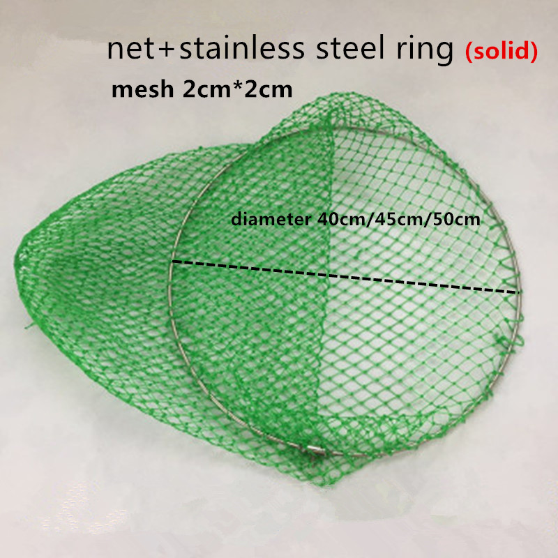 solid stainless steel ring 40cm 50cm strong dip net fishing net rede de pesca outdoor tool tuck net brail net spoon Accessories in Fishing Net from Sports Entertainment