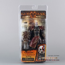 "1pcs/lot 7"" NECA God of War 2 II Kratos in Ares Armor W Blades PVC Action Figure Toy Doll Chritmas Gift hot retail MVFG147"