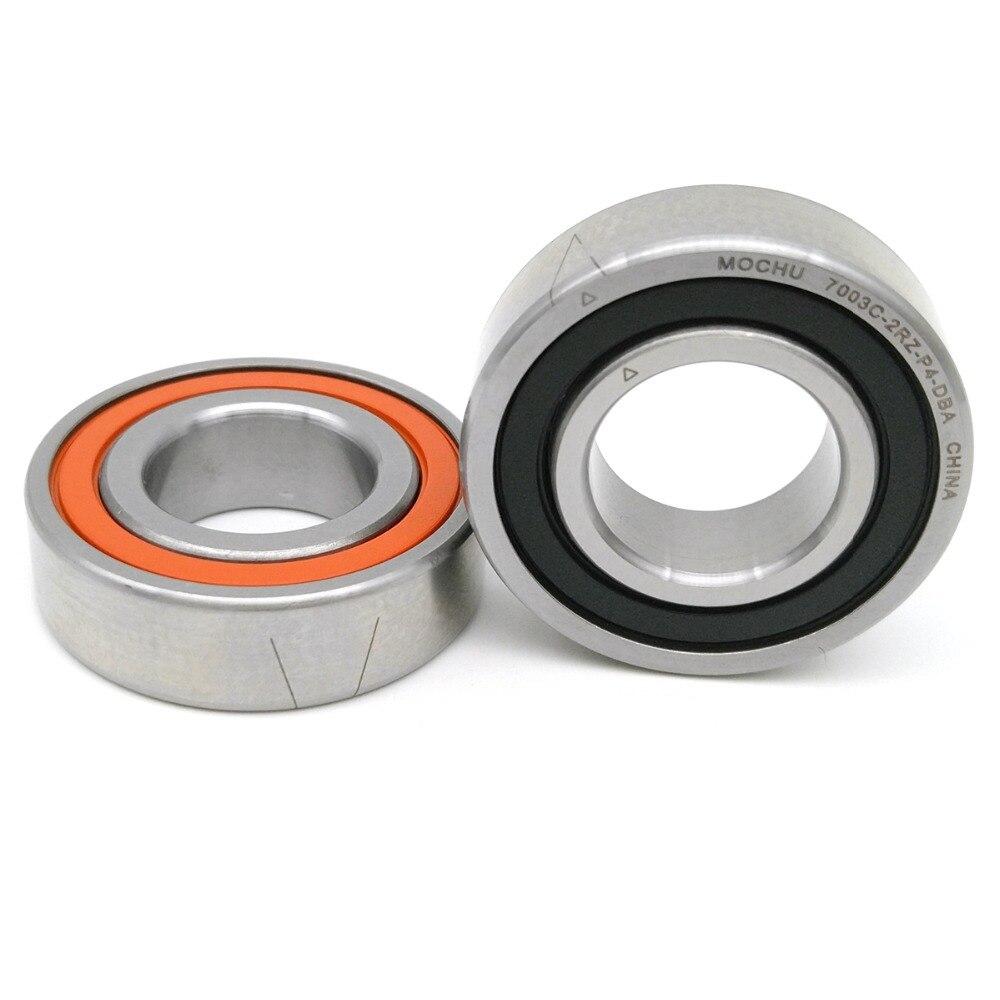 1 Pair MOCHU 7003 7003C 2RZ P4 DBA 17x35x10 17x35x20 Sealed Angular Contact Bearings Speed Spindle Bearings CNC ABEC-7 mochu 7205 7205c 2rz p4 dta 25x52x15 2 sealed angular contact bearings speed spindle bearings cnc abec 7 high quality