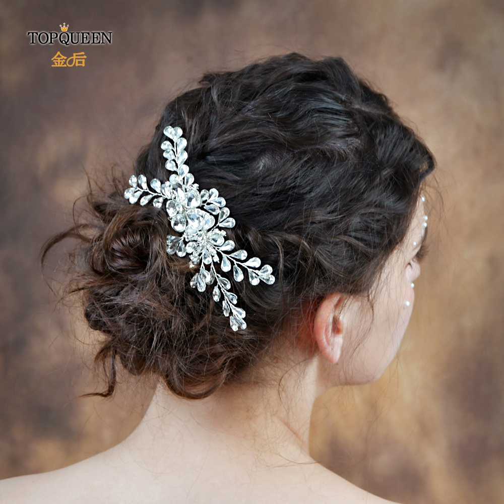 TOPQUEEN HP241 Fashion Bridal Comb Wedding Hair Accessories Comb Wedding Hair Accessories Combs Bridal Hair Combs For Party