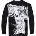 Fashion Brand Men Casual Clothing men Hip Hop Baggy Loose Skeleton Dance Long Sleeve T Shirt Plus Size XXXL 001
