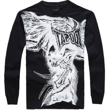 Fashion Brand Men Casual Clothing men Hip Hop Baggy Loose Skeleton Dance Long Sleeve T Shirt Plus Size XXXL 001