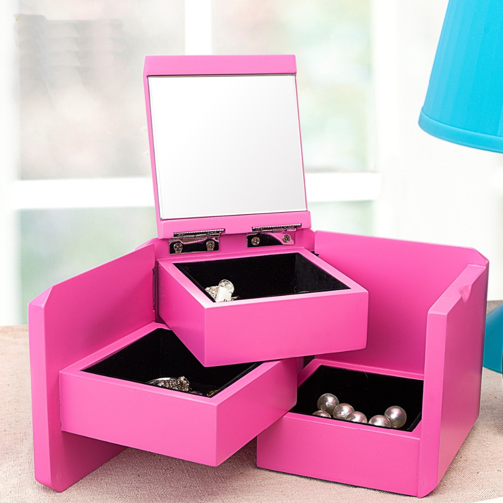 Pretty Jewelry Box Aliexpress  Buy Pretty Unique Retractable Wooden Storage Box