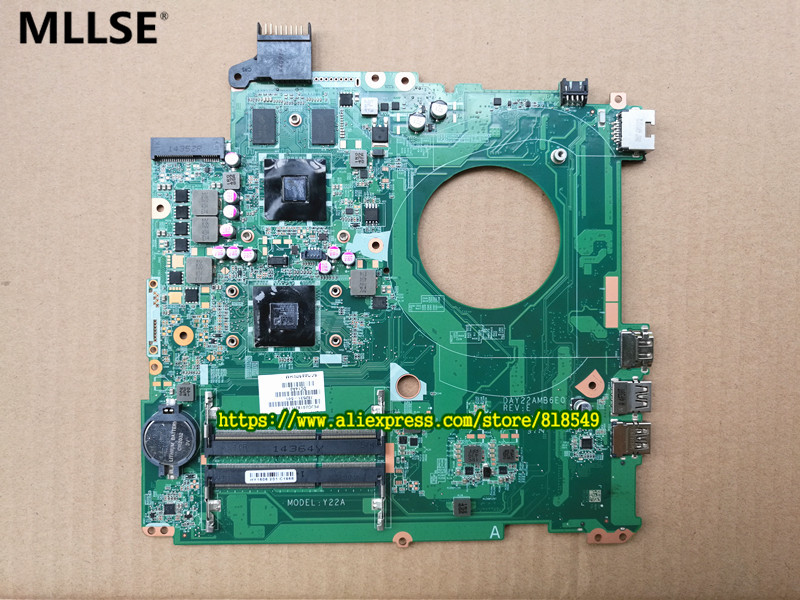 762532-501 762532-001 DAY22AMB6E0 Y22A Main board Fit For HP 15-p series  notebook pc Laptop motherboard original 615842 001 motherboard fit for hp cq32 g32 series notebook pc main board 100% working