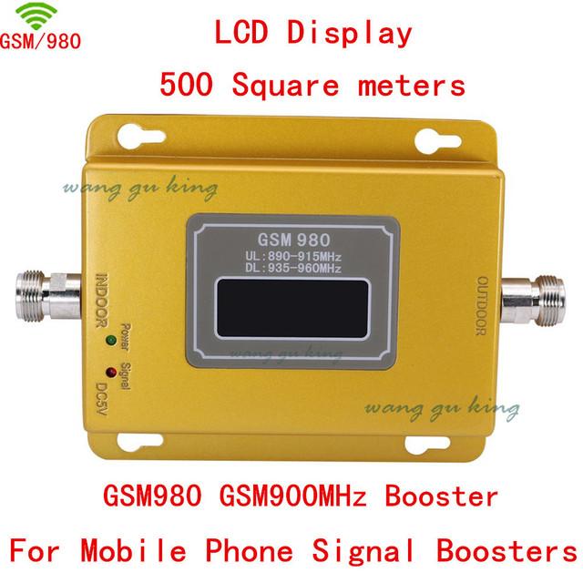 Mais novo GSM 980 20dbm potência display LCD telefone impulsionador repetidor GSM 900 mhz impulsionador repetidor, GSM impulsionador do sinal gsm adaptador reforço