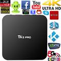 Mais novo TX5 Pro Android 6.0 TV BOX 2G/16G Amlogic S905X Media Player UHD 4 K Totalmente KODI 16.1 2.4G & 5G Wifi Quad core Set Top TV caixa