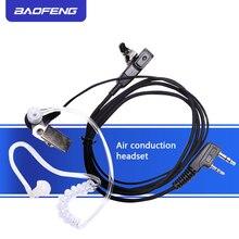 Baofeng UV 5R 888 s 999 s에 대 한 2pcs baofeng 마이크 공기 음향 튜브 이어폰 워키 토키 헤드셋