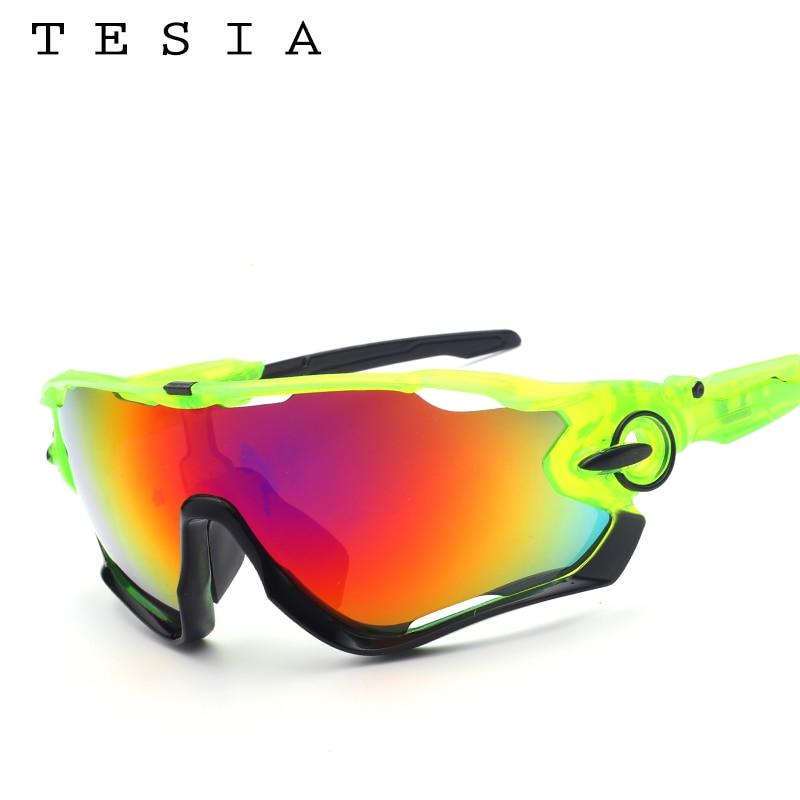 TESIA Merk Designer Zonnebril Mannen Spiegelbril voor buitenshuis rijden Mannen Dames Bril Rubberen neuspad T029