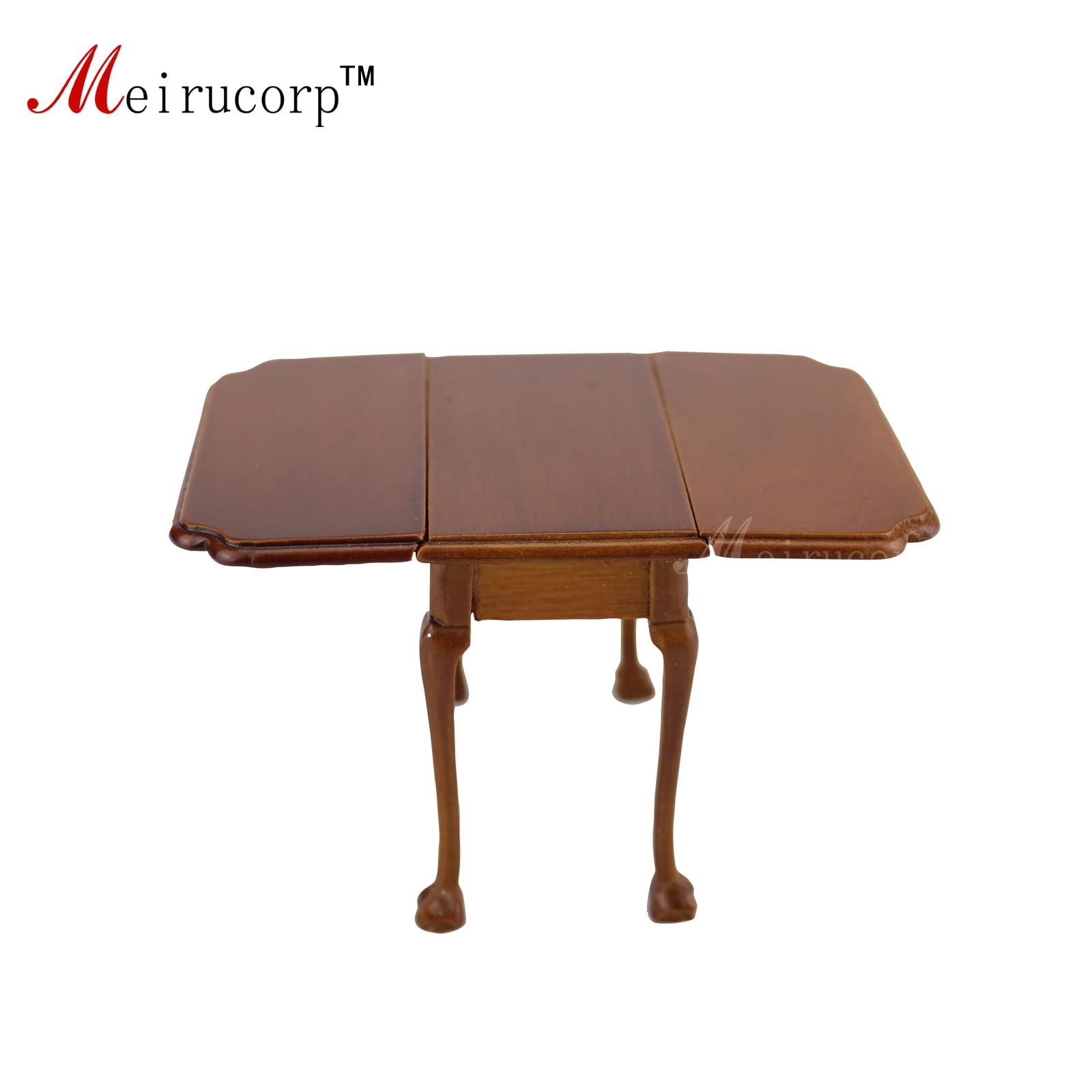 Доллхоусе 1:12 Минијатурни намјештај Хандмаде Склопиви трпезаријски стол