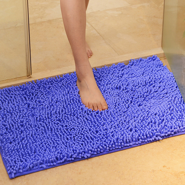 Chenille Carpet For Living Room Decorative Mats And Rugs Bathroom Bath Mat Water Absorbing Rug Kitchen Carpets Bedroom Doormat