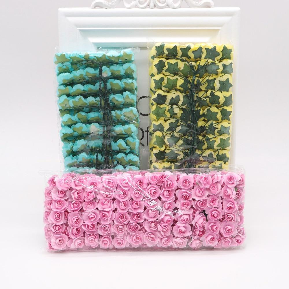 144pcs-1-5cm-Mini-Artificial-Mini-Paper-Rose-Bouquet-DIY-Wreath-Scrapbook-Wedding-Ornament-Artificial-Rose(5)