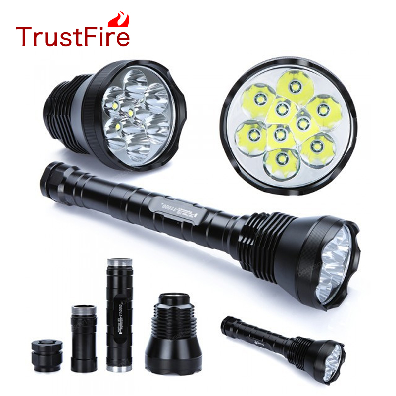 TrustFire TR-9T6 AK-47 9T6 cree xm-l t6 26650 18650 lampes de poche LED 10000 lumens lanterna 10000 lumens lampe de poche torche de chasse