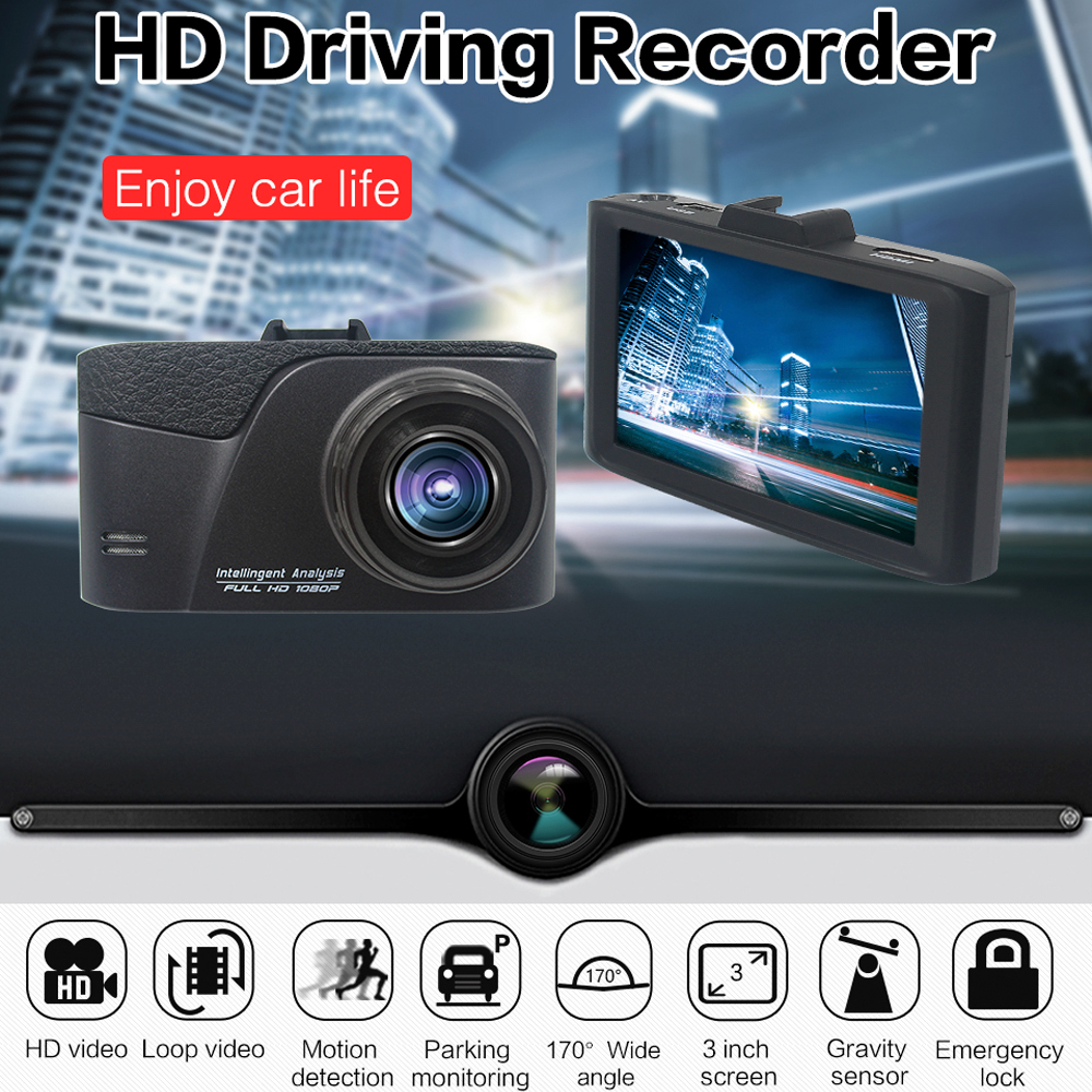 Original Podofo Car DVR Camera Dash Cam 3.0 1080P FHD 170 Degree Wide Angle Video Recorder G-sensor Registrator Camcorder gt2000 auto registrator 3 inch full hd 1080p dash cam car dvr 170 degree h 264 video g sensor video recorder camera