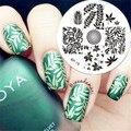 Hojas Tema NACIDO PRETTY Nail Art Sello Plantilla Stamping Placa de la Imagen #19