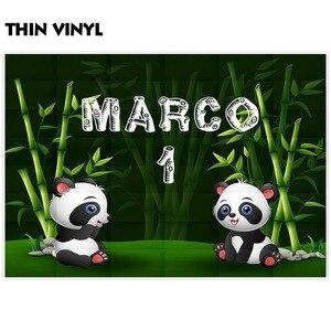 Image 3 - Allenjoy Fondo de fotografía de cumpleaños panda bosque de bambú, fondo personalizado para estudio fotográfico, utilería para sesión fotográfica, fotofono, decoración para sesión fotográfica