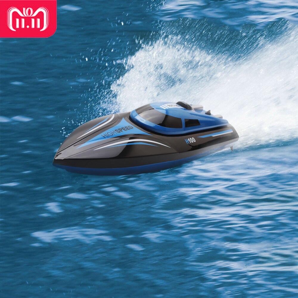 30 km/h di Alta Velocità della Barca del RC H100 2.4 ghz 4 Canali Corsa di Barca di Telecomando con DISPLAY LCD Dello Schermo come regalo per i bambini Giocattoli Per Bambini Regalo